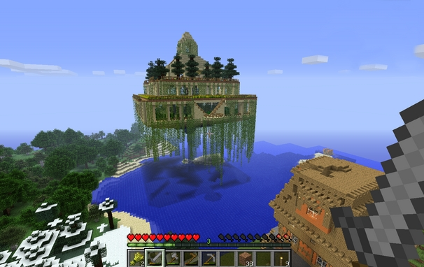 Image maison minecraft for Modele maison minecraft
