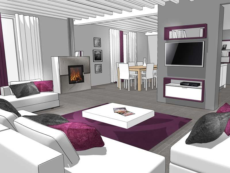 model de maison moderne interieur meilleures images d. Black Bedroom Furniture Sets. Home Design Ideas