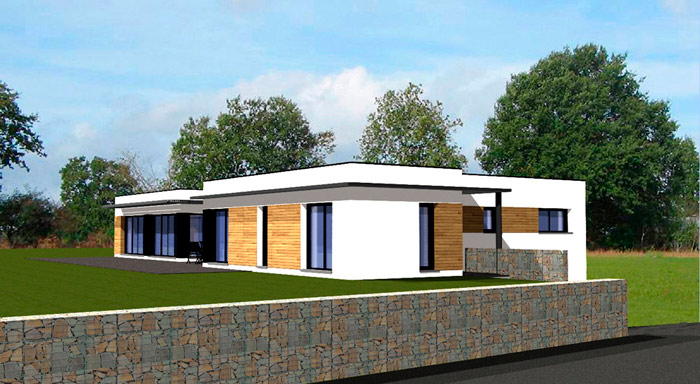 Maison contemporaine de plain pied - Belle maison plain pied ...