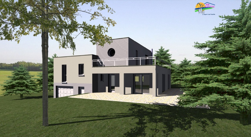Maison contemporaine modele for Plan construction maison individuelle gratuit