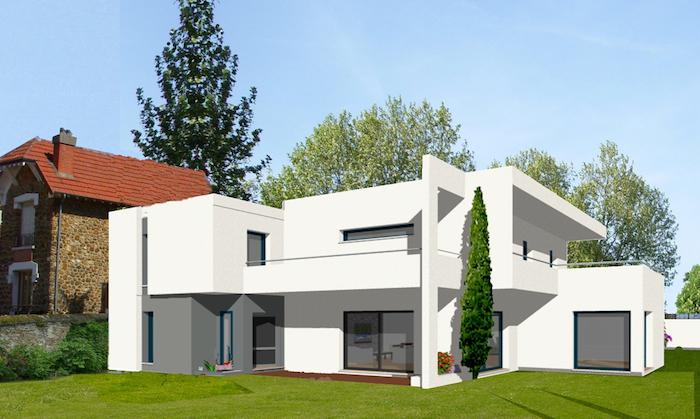 Maison contemporaine originale for Constructeur maison contemporaine ile de france