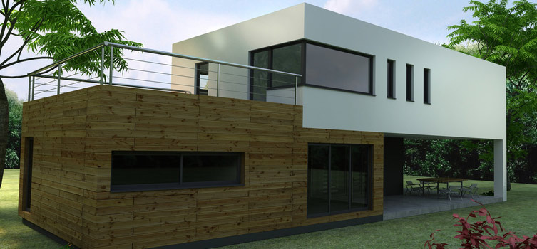 Contemporaine ossature metallique - Maison en kit ossature metallique ...