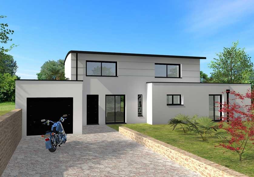 exemple maison contemporaine toiture zinc