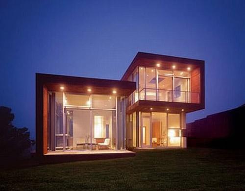 jolie maison moderne cubique
