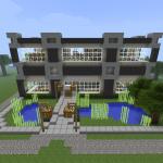maison moderne minecraft