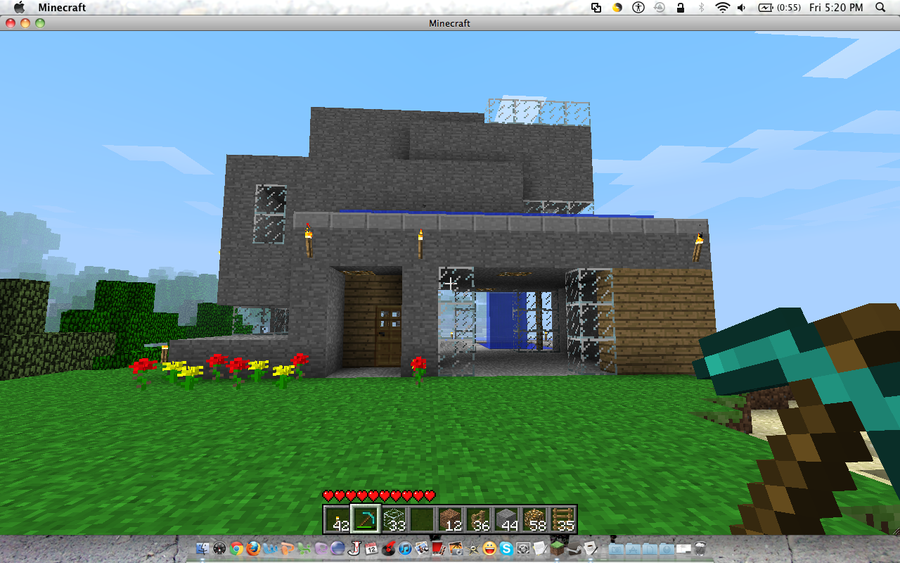 Maison moderne minecraft for Belle maison minecraft