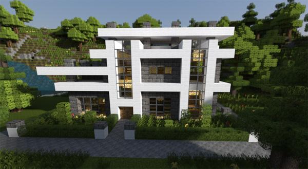 Maison moderne minecraft for Idee maison contemporaine