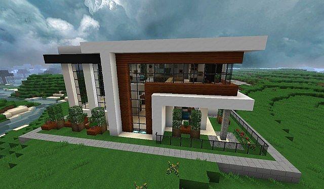 Maison moderne minecraft for Minecraft maison moderne xroach