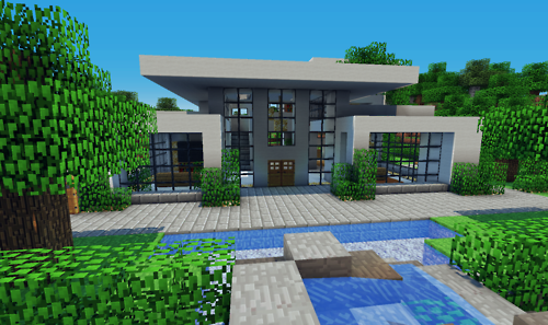 Maison moderne minecraft for Modern house mc