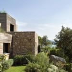 maison moderne pierre et bois