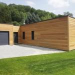 photo de maison ossature bois plain pied