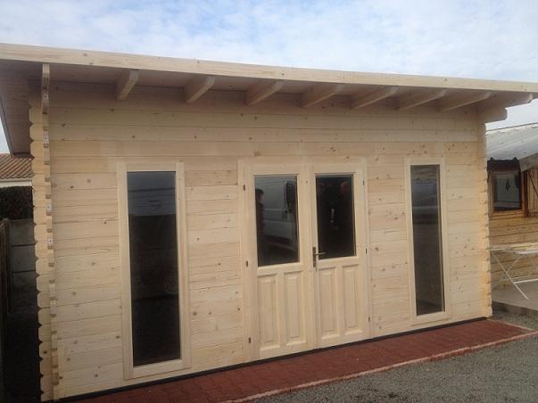 chalet bois kit 20m2. Black Bedroom Furniture Sets. Home Design Ideas