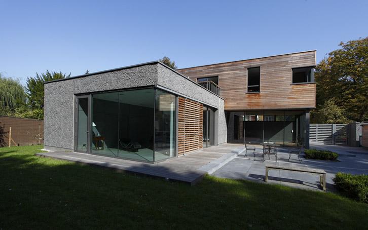 Maison architecte en bois - Extension de maison en bois prix au m2 ...