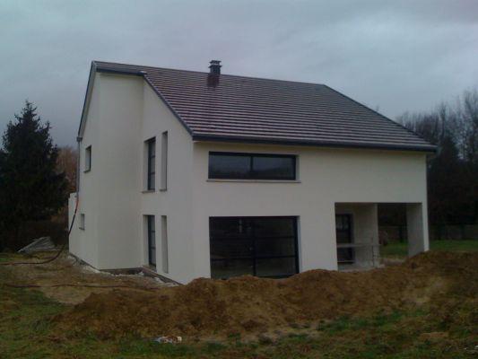 Maison contemporaine grise for Maison moderne grise