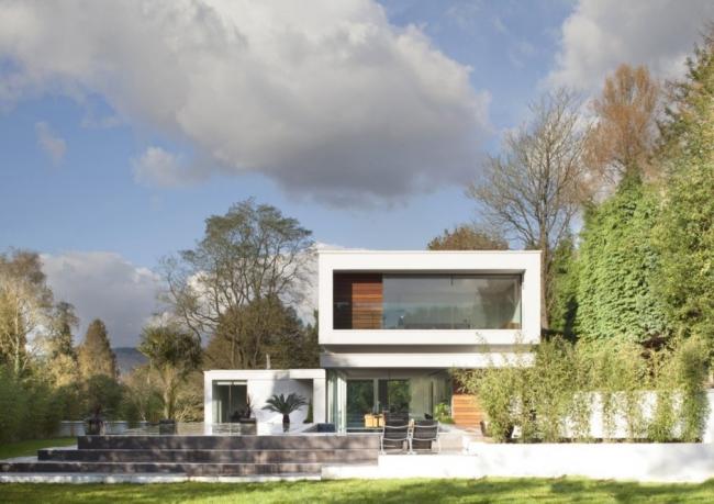 exemple maison contemporaine jardin