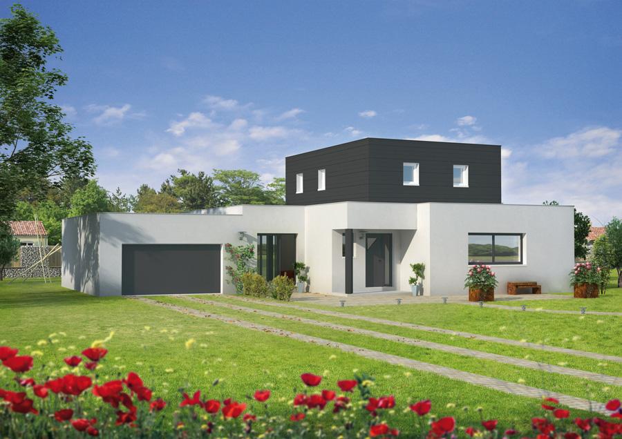 tendance maison contemporaine sans toit