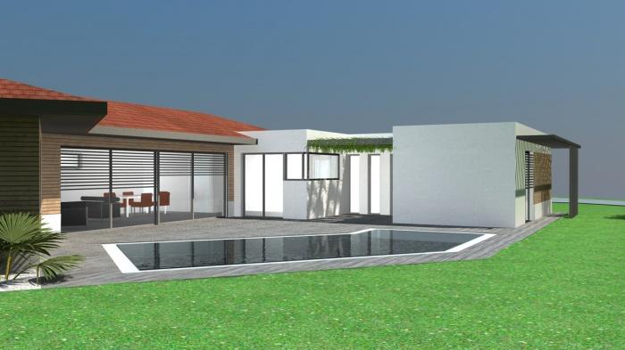 idée maison contemporaine sans toit