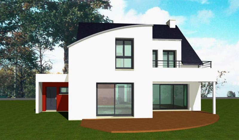 univers maison contemporaine toit zinc
