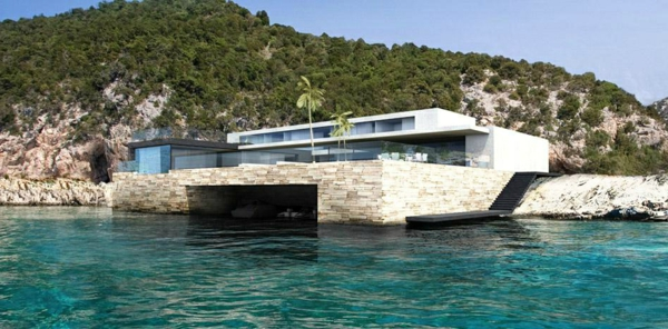 Maison moderne bord de mer - Maison en bord de mer ...