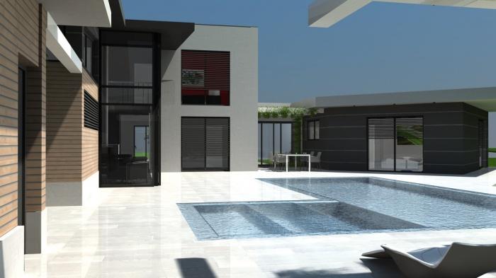 exemple maison moderne toit zinc