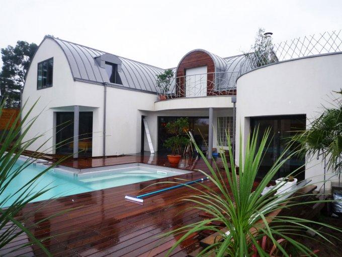 modèle maison moderne toit zinc