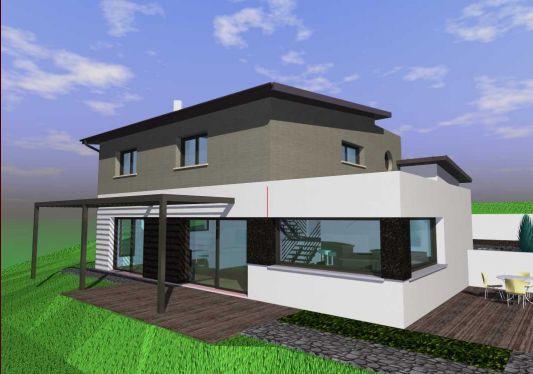 Maison moderne toit zinc for Maison moderne zinc