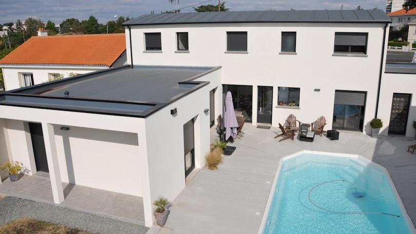 Souvent tendance photo de maison toiture bac acier DF88