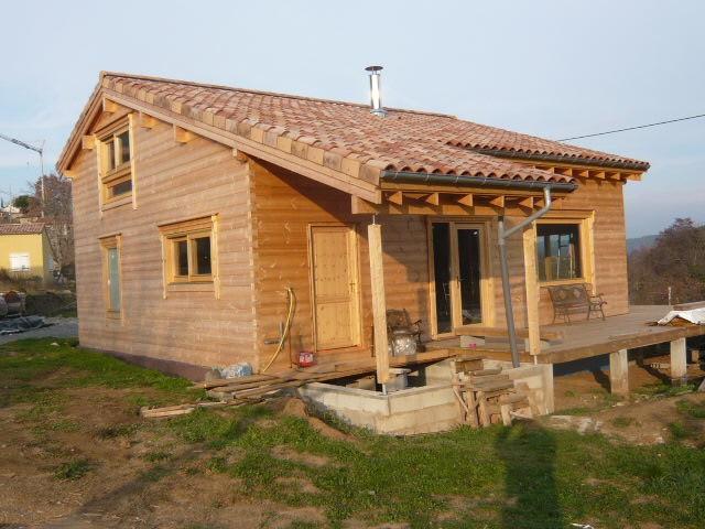 Image maison bois for Maison ossature bois normandie