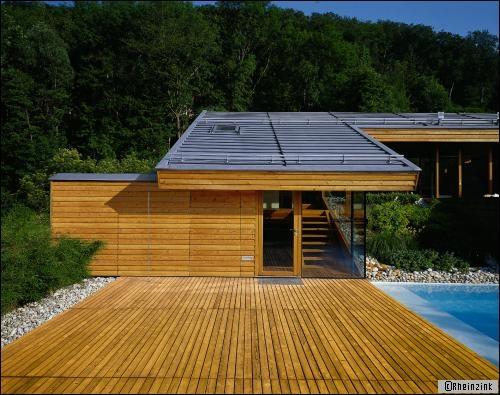 Maison architecte toit zinc for Modele maison architecte