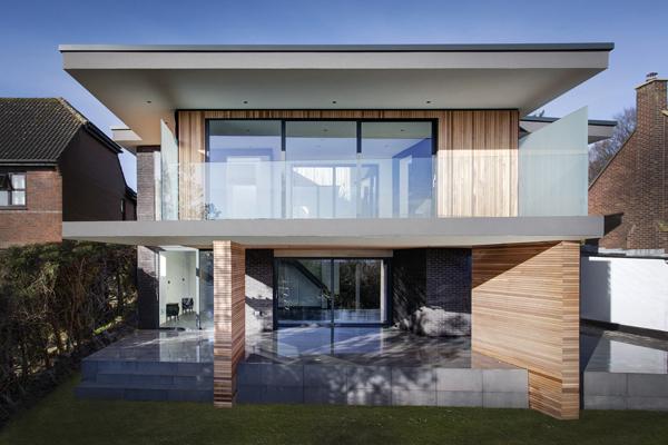 Maison contemporaine toit terrasse for Modele maison toit terrasse
