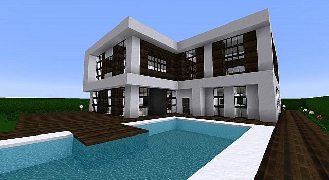 Maison en bois minecraft for Plan maison minecraft moderne