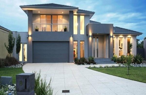 Maison moderne grise for Couleur de facade grise