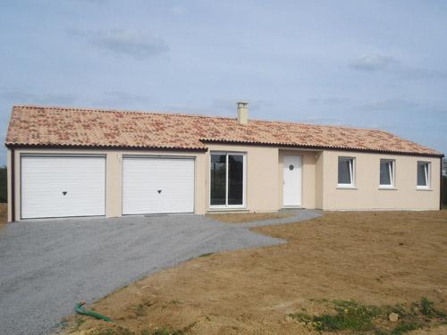 Maison plain pied garage double for Double maison
