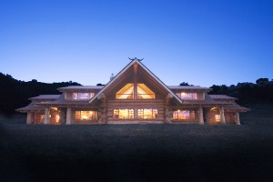 maison en bois de luxe