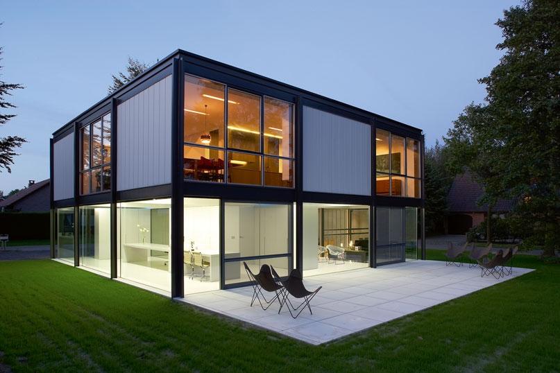 maison individuelle structure m tallique. Black Bedroom Furniture Sets. Home Design Ideas