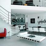 maison moderne avec mezzanine