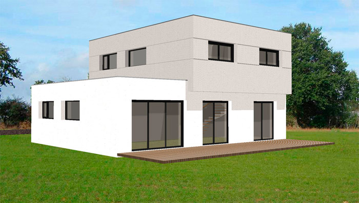 Maison moderne contemporaine for Idee maison contemporaine