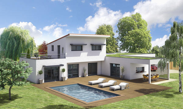 Maison moderne design solutions pour la d coration - Maison contemporaine solar solutions design ...