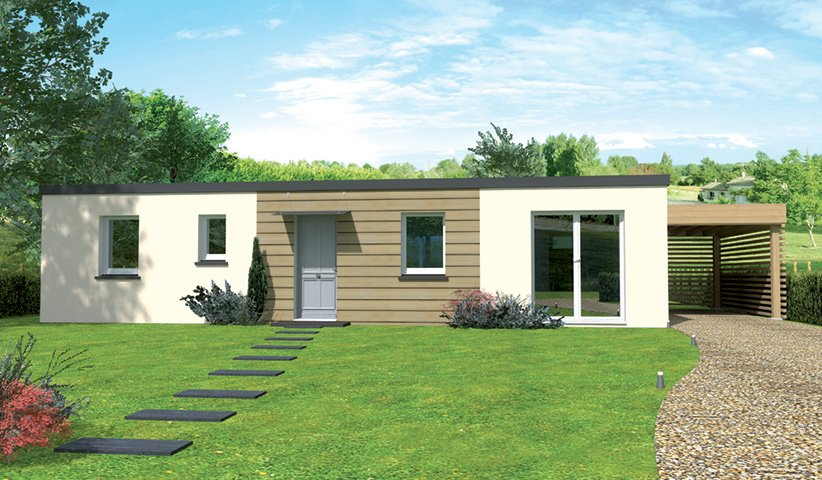 Maison plain pied design for Maison contemporaine 140m2