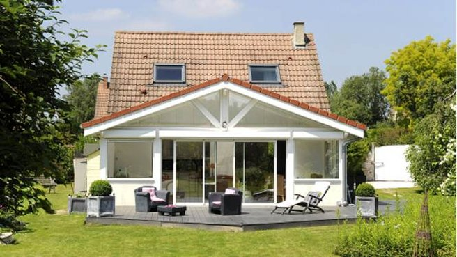 photo de maison avec veranda - Maison Avec Veranda Integree