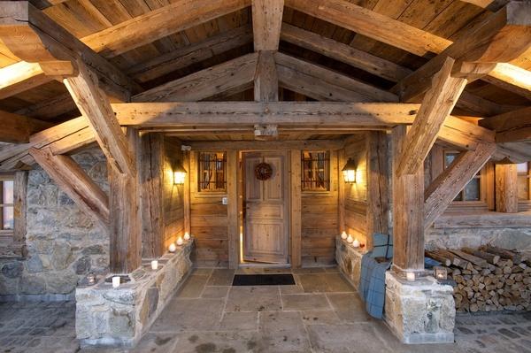 Chalet bois luxe for Maison en bois de luxe