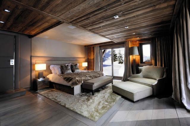 chalet bois luxe. Black Bedroom Furniture Sets. Home Design Ideas