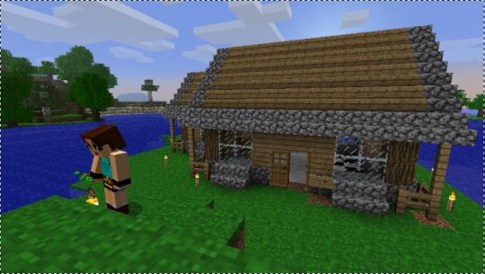 Maison architecte minecraft for Modele maison minecraft