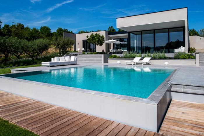 Maison architecte moderne piscine for Piscine moderne photos
