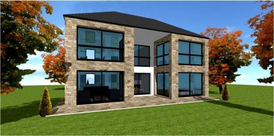 Maison contemporaine 2 etage for Jolie maison moderne