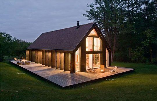 maison en bois design. Black Bedroom Furniture Sets. Home Design Ideas