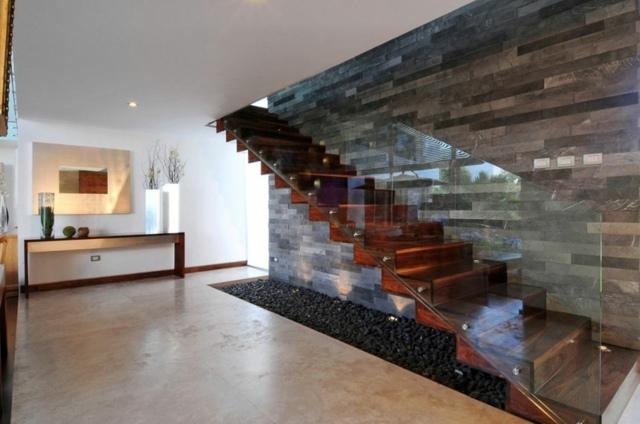 inspiration maison moderne bois et pierre