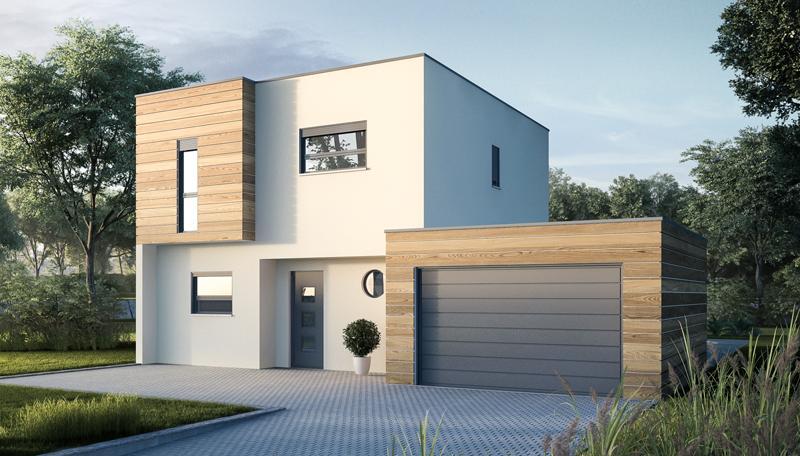 maison moderne carr