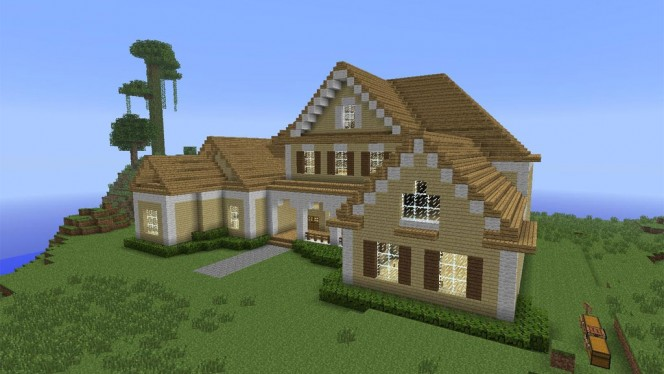 Maison moderne minecraft plan for Plan maison minecraft moderne