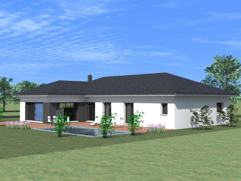 Maison plain pied architecte for Plan maison architecte plain pied